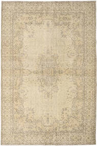 Colored Vintage Rug 206X309 Authentic  Modern Handknotted Light Brown/Dark Beige (Wool, Turkey)