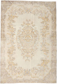 Colored Vintage Rug 208X302 Authentic  Modern Handknotted Light Brown/Beige (Wool, Turkey)