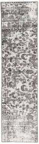 Colored Vintage Rug 70X288 Authentic  Modern Handknotted Hallway Runner  Light Grey/Beige/Dark Grey (Wool, Persia/Iran)