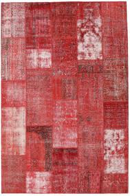 Patchwork Tapis 199X302 Moderne Fait Main Rouge Foncé/Rouge (Laine, Turquie)