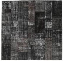 Patchwork Rug 248X254 Authentic  Modern Handknotted Square Dark Grey/Black (Wool, Turkey)