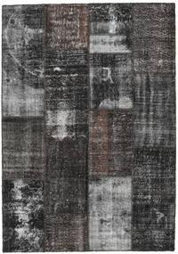 Patchwork Rug 162X232 Authentic  Modern Handknotted Dark Grey/Light Grey (Wool, Turkey)