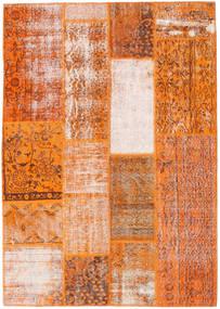 Patchwork Rug 141X200 Authentic  Modern Handknotted Orange/Light Brown (Wool, Turkey)