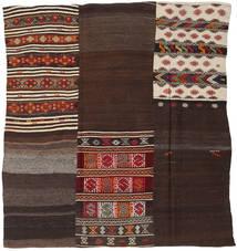 Kilim Patchwork Rug 214X233 Authentic  Modern Handwoven Square Dark Red/Dark Brown/Light Brown (Wool, Turkey)