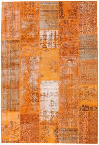 Patchwork Matto 203X299 Moderni Käsinsolmittu Oranssi/Vaaleanruskea (Villa, Turkki)