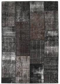 Patchwork Teppich  161X232 Echter Moderner Handgeknüpfter Dunkelgrau/Schwartz (Wolle, Türkei)