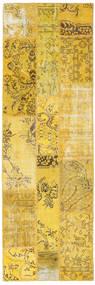パッチワーク 絨毯 82X253 モダン 手織り 廊下 カーペット 黄色 (ウール, トルコ)