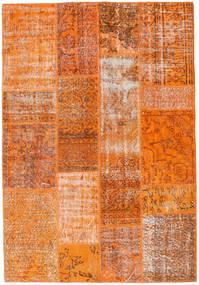 Patchwork Koberec 141X204 Moderní Ručně Tkaný Oranžová/Červená (Vlna, Turecko)