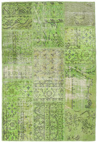 Patchwork Χαλι 122X181 Σύγχρονα Χειροποιητο Ανοιχτό Πράσινο/Λαδί (Μαλλί, Τουρκικά)