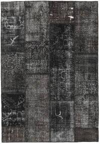 パッチワーク 絨毯 161X232 モダン 手織り 濃いグレー/黒 (ウール, トルコ)