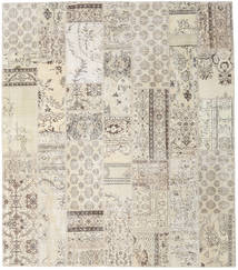Patchwork Rug 253X288 Authentic  Modern Handknotted Light Brown/Light Grey/Beige Large (Wool, Turkey)