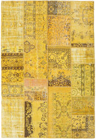 Patchwork Rug 160X238 Authentic  Modern Handknotted Yellow/Brown (Wool, Turkey)