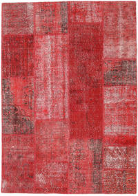 Patchwork Rug 162X232 Authentic  Modern Handknotted Dark Red/Crimson Red/Rust Red (Wool, Turkey)