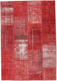 Patchwork Teppich  161X231 Echter Moderner Handgeknüpfter Rot/Dunkelrot (Wolle, Türkei)