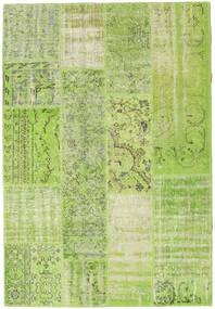 Patchwork Χαλι 142X206 Σύγχρονα Χειροποιητο Ανοιχτό Πράσινο/Λαδί (Μαλλί, Τουρκικά)