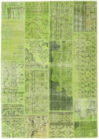 Patchwork Matto 162X231 Moderni Käsinsolmittu Vaaleanvihreä/Oliivinvihreä (Villa, Turkki)