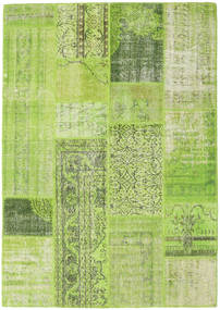 Patchwork Matto 160X228 Moderni Käsinsolmittu Vaaleanvihreä/Oliivinvihreä (Villa, Turkki)