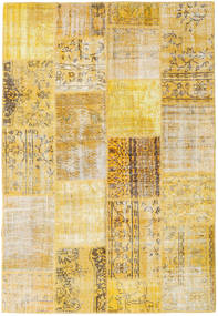 Patchwork Rug 161X235 Authentic  Modern Handknotted Yellow/Light Brown (Wool, Turkey)