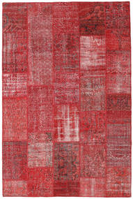 Patchwork Rug 200X304 Authentic  Modern Handknotted Crimson Red/Dark Red (Wool, Turkey)