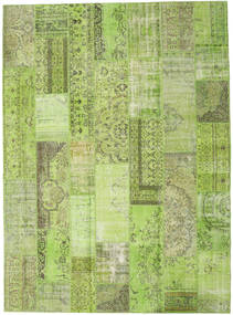 Patchwork Rug 273X374 Authentic  Modern Handknotted Light Green/Olive Green Large (Wool, Turkey)
