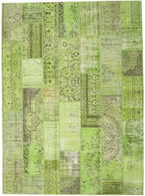 Patchwork Matto 273X374 Moderni Käsinsolmittu Vaaleanvihreä/Oliivinvihreä Isot (Villa, Turkki)