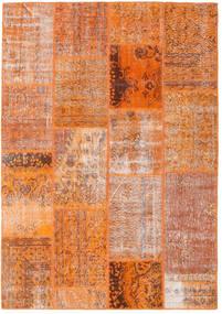 Patchwork Alfombra 161X230 Moderna Hecha A Mano Naranja/Marrón Claro (Lana, Turquía)