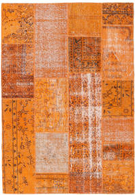 Patchwork Rug 160X231 Authentic  Modern Handknotted Orange/Crimson Red (Wool, Turkey)