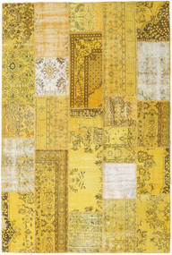 Patchwork Rug 202X302 Authentic  Modern Handknotted Yellow/Olive Green (Wool, Turkey)