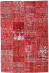 Patchwork Rug 202X303 Authentic  Modern Handknotted Crimson Red/Rust Red (Wool, Turkey)