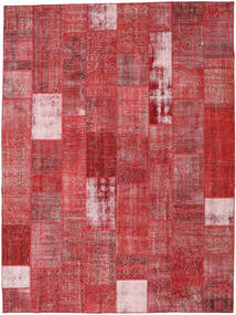 Patchwork Rug 303X403 Authentic  Modern Handknotted Rust Red/Dark Red Large (Wool, Turkey)