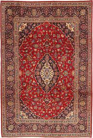 Kashan Covor 205X302 Orientale Lucrat Manual Maro/Maro Închis (Lână, Persia/Iran)
