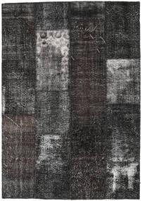 Patchwork Rug 161X230 Authentic  Modern Handknotted Dark Grey/Black (Wool, Turkey)