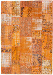 Patchwork Rug 184X260 Authentic  Modern Handknotted Orange/Light Brown (Wool, Turkey)