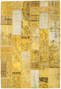 Patchwork Rug 202X298 Authentic  Modern Handknotted Yellow/Brown (Wool, Turkey)