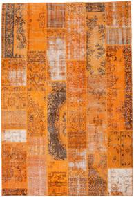 Patchwork Teppe 201X298 Ekte Moderne Håndknyttet Orange/Lysbrun (Ull, Tyrkia)