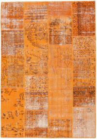 Patchwork Szőnyeg 161X231 Modern Csomózású Narancssárga/Világosbarna (Gyapjú, Törökország)