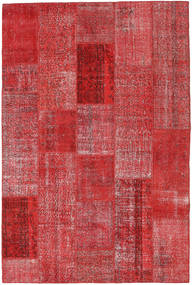 Patchwork Rug 202X303 Authentic  Modern Handknotted Dark Red/Rust Red (Wool, Turkey)
