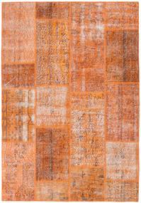 Patchwork Rug 161X233 Authentic  Modern Handknotted Orange/Light Brown (Wool, Turkey)