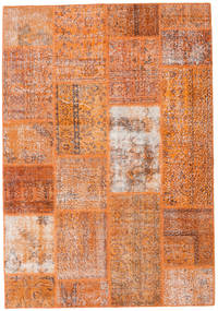 Patchwork Rug 161X232 Authentic  Modern Handknotted Light Brown/Orange (Wool, Turkey)