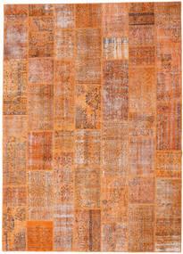 Patchwork Rug 8′8″x12′1″ Authentic  Modern Handknotted Light Brown/Orange Large (Wool, Turkey)