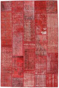 Patchwork Tappeto 202X302 Moderno Fatto A Mano Rosso Scuro/Ruggine/Rosso (Lana, Turchia)