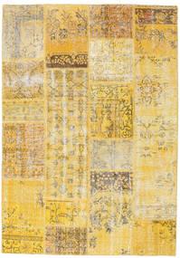 Patchwork Rug 160X230 Authentic  Modern Handknotted Dark Beige/Yellow (Wool, Turkey)