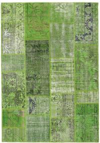 Patchwork Teppe 160X230 Ekte Moderne Håndknyttet Mørk Grønn/Olivengrønn (Ull, Tyrkia)