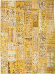 Patchwork Rug 275X372 Authentic  Modern Handknotted Light Brown/Yellow Large (Wool, Turkey)