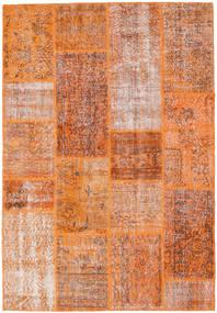Patchwork Teppich  161X236 Echter Moderner Handgeknüpfter Orange/Hellbraun (Wolle, Türkei)