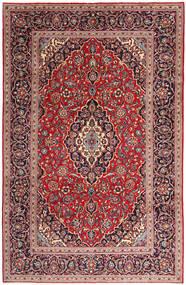 Keshan Koberec 197X300 Orientální Ručně Tkaný Tmavě Fialová/Tmavě Červená (Vlna, Persie/Írán)
