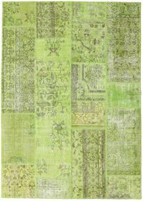 Patchwork Teppich  161X229 Echter Moderner Handgeknüpfter Hell Grün (Wolle, Türkei)