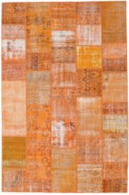Patchwork Matto 199X303 Moderni Käsinsolmittu Oranssi/Vaaleanruskea (Villa, Turkki)