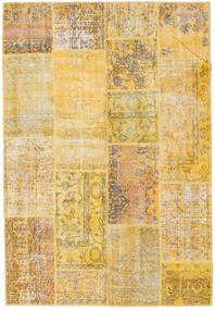 Patchwork Rug 160X235 Authentic  Modern Handknotted Light Brown/Yellow (Wool, Turkey)