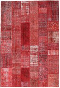Patchwork Alfombra 202X300 Moderna Hecha A Mano Roja/Óxido/Roja (Lana, Turquía)